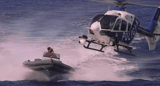 تحطم مروحية إسبانية بمضيق جبل طريق كانت تطارد قارب لتهريب المخدرات