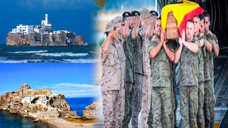 الجيش الإسباني ينقل رفات جنوده من جزيرتي النكور وبادس صوب مقابر مليلية المحتلة