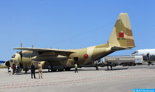 وصول أربع طائرات جديدة إلى تونس محملة بالمساعدة الطبية العاجلة التي أمر بها الملك