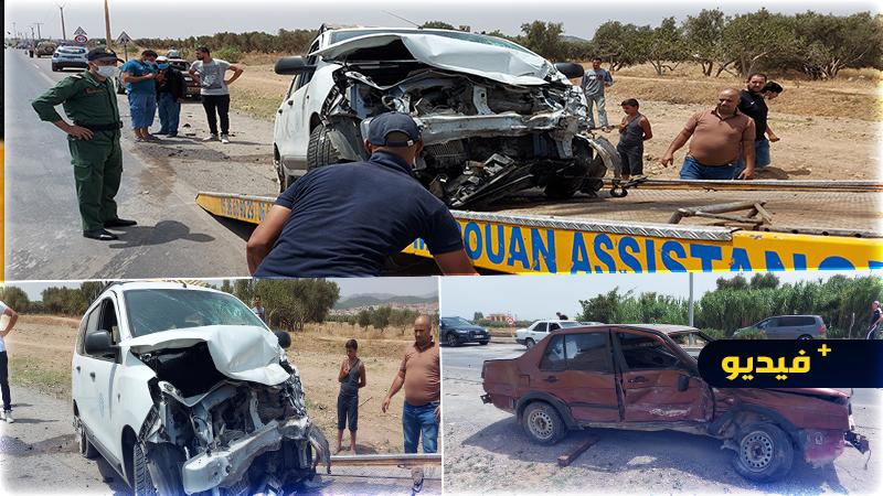 اصطدام قوي بين سيارتين في طريق سلوان يخلف خسائر مادية جسيمة