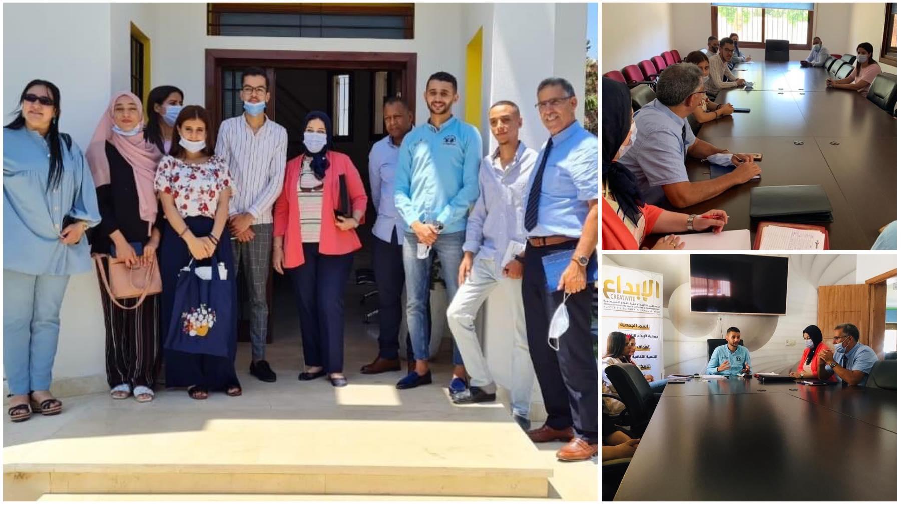 """""""الأبواب المفتوحة لحاملي المشاريع"""" يواصل فعالياته بزيارة لمنصة الشباب بالناظور"""