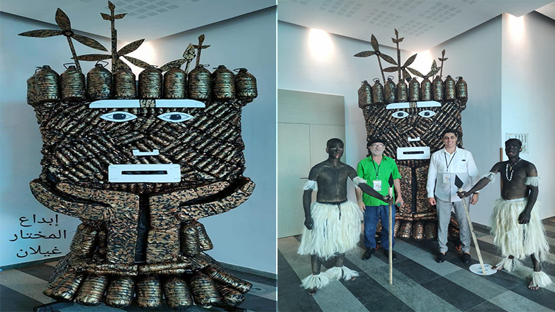 مجسم الدورة الخامسة للأسبوع الأخضر : عمل إبداعي يعكس النجاعة الطاقية