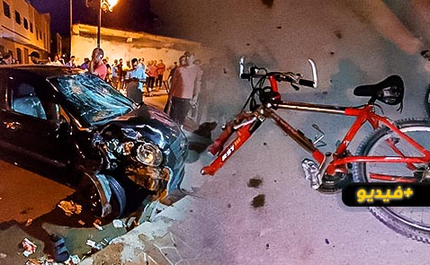 حادثة سير مروعة وسط الناظور ترسل طفلا للمستعجلات وتتسبب في خسائر فادحة بواجهة محل تجاري
