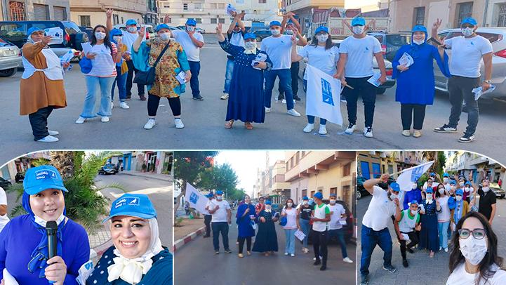 بقيادة صونيا العلالي.. نساء الحمامة يستمرن في حملاتهن الانخابية للتواصل مع المواطنين