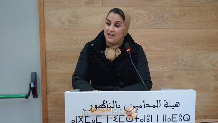 المحامية خديجة أحمادوش تفوز بمقعد ببلدية الناظور