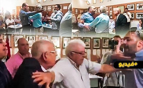 شاهدوا.. دورة المجلس الجماعي لبني انصار تتحول إلى حلبة للمصارعة