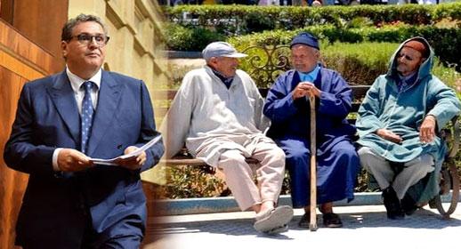 الحكومة تعد المسنين بـ400 درهم ابتداء من شتنبر 2022 و1000 درهم بحلول 2026