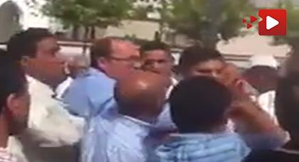 الصحافي الريفي عبد المجيد أمياي يتعرض لإعتداء على يد أحد المرشحين لإنتخابات الغرف المهنية