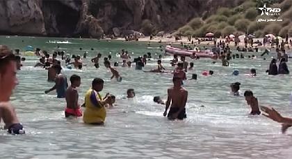 شاهدوا جمال وروعة شاطئ كيمادو بالحسيمة