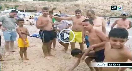 قناديل البحر تثير مخاوف المصطافين بشاطئ كالابونيتا بالحسيمة