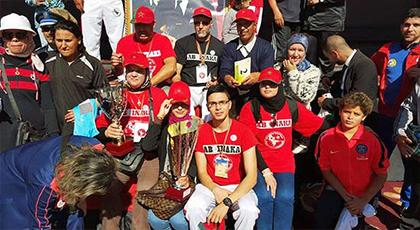 اللجنة الوطنية المغربية لرياضة ابيناكا تعيش اجواء المسيرة الخضراء بوجدة