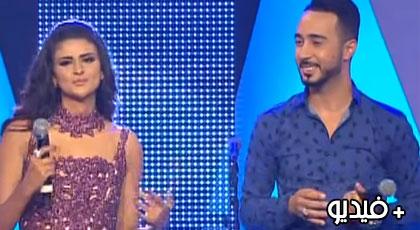 شاهدوا فيديو.. سلمى رشيد وبدر سلطان يغنيان بالريفية في برنامج تغريدة