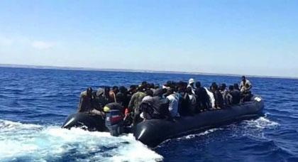 توقيف 32 مهاجر سري من دول جنوب الصحراء أثناء محاولتهم ركوب قارب مطاطي بشاطئ أعمر أموسى بتزاغين
