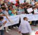 وقفة إحتجاجية حاشدة  لساكنة جماعة بني شيكر للمطالبة بإصلاح طريق إقليمية تربطهم بمدينتي الناظور وبنصار