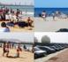 إقبال متزايد للمصطافين على شاطئ بني أنصار خلال ثاني أيام العيد بسبب الحرارة المفرطة
