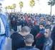 """تجار """"سوبير مارشي"""" يحتجون أمام عمالة الناظور للمطالبة بتحسين اوضاعهم المهنية"""