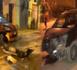 بالصور.. سائق سيارة مجهولة يصطدم بـ 3 سيارات وسط العروي ويلوذ بالفرار
