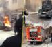 تماس كهربائي بالمحرك يؤدي إلى اشتعال النيران بسيارة وسط الناظور