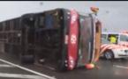 إعصار تايوان يقلب حافلة مليئة بالركاب