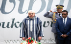 شاهدو صور الملك محمد السادس باللحية و الجلباب المغربي بعمق إفريقيا