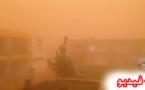 عاصفة رملية قوية قادمة من الجنوب تضرب عدد من المدن بالجهة الشرقية