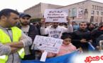 """إحتجاجات وسط بروكسل للتنديد بمقتل شهيد """"الحكرة """" محسن فكري بالحسيمة"""