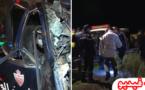 فاجعة.. مصرع أربعة عناصر من  الأمن الوطني بعد إصطدام سيارتهم بأساس قنطرة