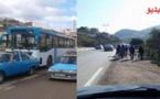 حافلات الحسيمة تتوقف عن استغلال الخط الطرقي الذي يربطها بإمزورن لهذا السبب