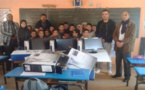 جمعية ثيميسي للتنمية المستدامة توزع أجهزة حواسب لمجموعة مدارس ابن الرومي بدار الكبداني