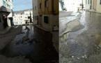 تدفق سيول مياه من أنبوب معطوب منذ 4 أشهر يتسبب في إغراق حيّ وسط إمزورن بالأوحال يثير استياء الساكنة