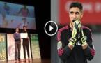 فيديو.. تكريم خاص لإبن الريف حارس المنتخب المغربي منير المحمدي على تألقه في  الكان