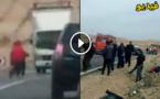 مأساة.. عدسة مواطن توثق حادث سير مميت لشابين متهورين كانا على متن دراجة نارية