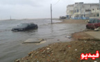 بالفيديو..  ميني تسونامي بعدد من شواطئ مدن الشمال