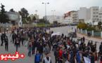 ساكنة تماسينت تواصل إحتجاجاتها الشعبية  بمسيرة حاشدة  سيرا على الاقدام الى مدينة الحسيمة