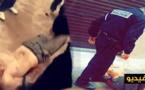 """مخمور متجرد من ملابسه يتمادى في غيِّه ويروّع مواطنين تحت تهديدهم بالسلاح مرددا """"الله أكبر"""" وسط الناظور"""