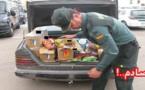 حجز 18 طن من المواد الغذائية و6000 لتر من المشروبات الفاسدة كانت معدة للتهريب الى الناظور