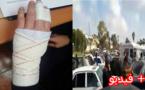 عراك بين مواطن وشرطي اسباني في معبر فرخانة ينتهي بدخول الشرطي الى المستشفى