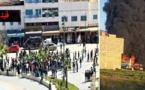 اندلاع مواجهات عنيفة بين تلامذة بني بوعياش وإمزورن وقوات الأمن وإحراق سيارة وحافلة أمنيتين