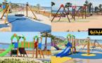 الإستعدادات جارية لفتح فضاء ألعاب الأطفال  بكورنيش بحيرة مارتشيكا عشية  اليوم