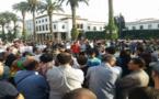 عشرات المتظاهرين بالرباط وبعدة مدن مغربية يخرجون ضمن وقفات تضامنية لمناصرة الحراك الشعبي بالريف