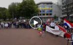 """بالفيديو: ريفيو هولندا يحتجون أمام محمكة """"لاهاي"""" وينددون بشرعنة الدولة الفرنسية ما يقع بالريف"""