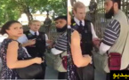 تفتيش مهاجر مسلم في الشارع العام بعد أن إتهمته سيدة بحمل  متفجرات تحت سترته