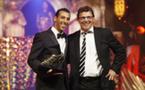 منير الحمداوي يفوز بجائزة الحذاء الذهبي
