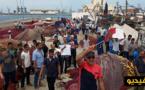 بحارة بني أنصار يحتجون على مندوبية الصيد البحري للمطالبة بتحسين أوضاعهم