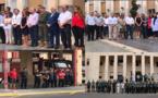 بالصور.. مؤسسات أمنية وعسكرية ومدنية تقف دقيقة صمت تكريما لأرواح ضحايا هجوم برشلونة
