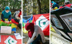 بالصور.. ناشطات يعتصمن  أمام قنصلية المغرب في مدينة بروكسل تضامنا مع معتقلي الحراك