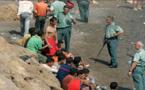 هكذا أوقفت عناصر الحرس المدني  22 مهاجرا مغربيا كلهم قاصرين بشواطئ طريفة