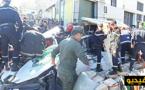 تحطم 7 سيارات و تسجيل قتلى ضمنهم أطفال جراء انهيار جدار إحدى الشركات بالدارالبيضاء