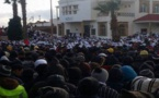 """رغم وعود العثماني.. نساء جرادة يخرجن للاحتجاج بلباس """"الحداد"""" حزنا على ضحايا مناجم الفحم"""