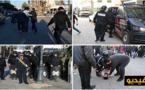 """اعتقال خمسة نشطاء وإصابة آخر إثر تدخل قوات الأمن لمنع وقفة لتخليد """"20 فبراير"""" وسط الناظور"""